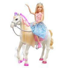 Barbie Prinzessinnen Abenteuer Pferd mit Prinzessin Puppe, Licht & Geräuschen