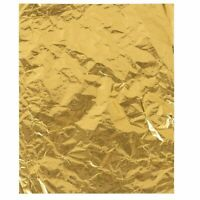 100 Pcs Gold Foil Candy Wrappers, Aluminum Foil Chocolate Wrapping Paper for DIY