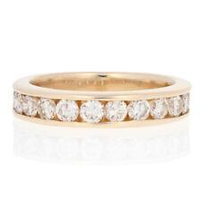1.20ctw Round Brilliant Diamond Wedding Band - 14k Yellow Gold Channel Set Ring