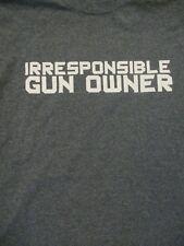 M gray IRRESPONSIBLE GUN OWNER t-shirt by GILDAN