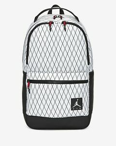 "Air Jordan Jumpman 'White Black' Basketball Backpack [9A0436-001] 18"" 12"" 6"""