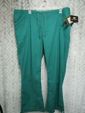 New Iguana Med Scrub Pants Size 3XL Green 1/2 Elastic Waist Pockets Drawstring