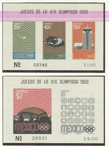Mexico Olympic Games 1968 4 blocks mint witnout hinge