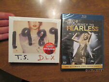 LOT TAYLOR SWIFT CD 1989 DELUXE TARGET polaroid + BLU-RAY journey to FEARLESS