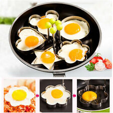 5X Cooking Kitchen Tool Stainless Steel Fried Egg Shaper Ring Pancake Mould Mold