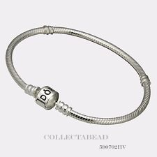Authentic Pandora Sterling Silver Bracelet with Pandora Lock 7.9 590702HV-20