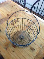 Vintage Metal Wire Basket Antique Old Bucket Shabby