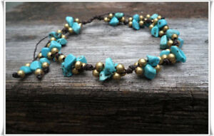 Turquoise Knot Anklet Fashion Jewelry
