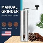 Manual Coffee Bean Grinder Stainless Steel Hand Coffee Mill Crank Ceramic Burr
