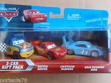 Disney Cars 3 Pack Lenticular DEXTER HOOVER, MCQUEEN & DAMAGED KING Error