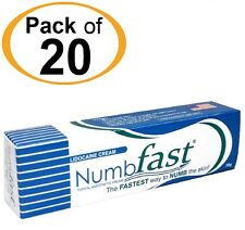 20 Tubes NUMB FAST® Numbing Painless Cream Tattoo Piercing Waxing Laser Dr