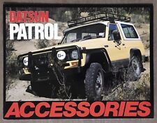 1981 Datsun Patrol Accessories original Australian sales brochure (writing)