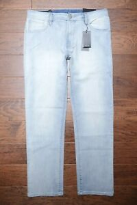 Armani Exchange A|X Men's Relaxed Straight Light Blue Stretch Cotton Jeans 34R