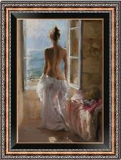 """Hand-painted Original Oil Painting art Impressionism nude girl on canvas 24x36"""""""
