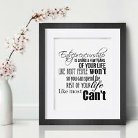Entrepreneur Inspirational Wall Art Print Motivational Quote Poster Decor Gift