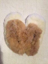 Handmade Alpaca Skin Slippers from Peru (Size 7-7.5)