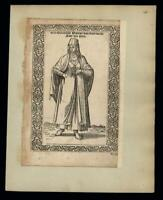 Greek woman in typical dress from Pera 1570 de Nicolay scarce engraved print