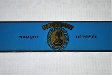plaque tôle lithographie pub balais LE CROISSANT chapeau Fez Montauban