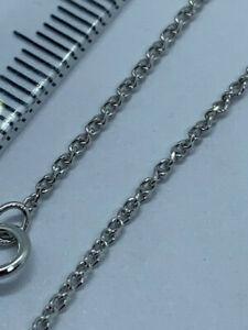 "9ct White Gold Diamond Cut Wheat Link Chain 20"" / 50cm Neck Chain (235w)"