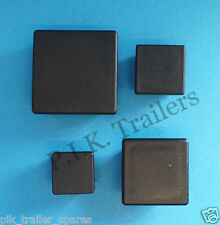 SQUARE Plastic End Blanking Caps Box Section Tube Ribbed Inserts - Trailer