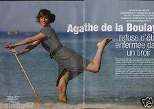 Coupure de presse Clipping 2005 Agathe de la Boulaye  (4 pages)
