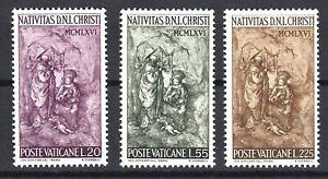 VATICAN # 445-447- NATIVITY SCULPTURE BY SCORZELLI - MNH
