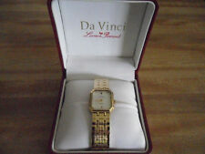 DAVINCI MENS WATCH BY LUCIEN PICCARD QUARTS JAPAN STAINLESS BACK