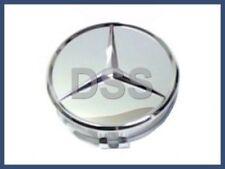 New Genuine Mercedes Chromed Raised Star Wheel Insert Cap C E S M SL Class OEM