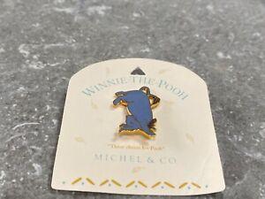 DISNEY WINNIE THE POOH EEYORE HANDSTAND PIN - MICHEL & CO ON CARD.