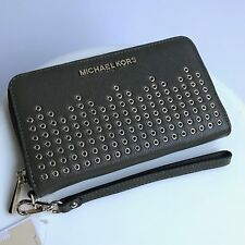 Michael Kors * Hayes Leather Phone Case Wallet Wristlet Olive Green COD PayPal