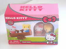 SANRIO New HELLO KITTY Playset Jody Puppy Toy Flocked Figures w/ See Saw NIB