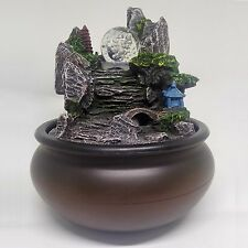 Resin Mountain View Indoor Fountains Feature Water Humidifier Desktop Home Decor