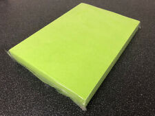 100 sheets of A4 edible wafer (rice paper) semi-transparent BRIGHT GREEN colour