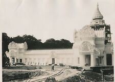 Exposition Coloniale c. 1930 - Ouvriers Reconstitution Temple d'Angkor - PRM 629