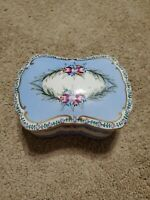 K Dresden Germany Covered Porcelain Trinket Box, Richard Klemm