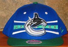 NHL Vancouver Canucks Hockey Zephyr Baseball Cap Adjustable Snapback Hat