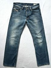 Mens DIESEL LARKEE Jeans Regular Straight Fit Blue USED Wash 0801Z Size W30 L30