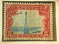 US Stamp Scott #C11 Rare Stamp Shifted Beacon 1928 Fine Collectors Collection