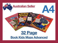 32 Page Book A4 Activity Books Puzzle Mind Travel Fun Learn Kids Maze Advanced