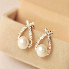 UK WOMEN LADIES FASHION VINTAGE CRYSTAL EARSTUD EARRINGS JEWELRY PARTY