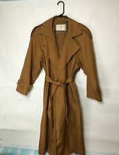 Towne by London Fog Women's Camel Brown Trench Coat Size 14 Petite