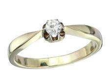 Solitär Ring Brillant ca. 0,10 Carat 585er Gelbgold