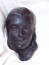 "Wandmaske Keramik ""Edith"", Handarbeit, signiert"
