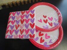 VALENTINE HEART DESIGNED PLATES (16) AND NAPKINS (20) NIP & Valentine Dinnerware/Serving Piece | eBay