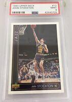 John Stockton 1993 Upper Deck #12 Psa 9 Utah Jazz