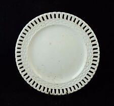 Rare et ancienne assiette plate ajourée en faïence de LONGWY 1866 -1871 TBE