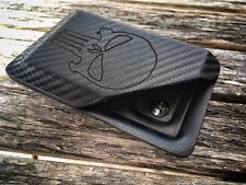 """Kydex Wallet With Money Clip """"PUNISHER"""" Edition Carbon Fiber"""