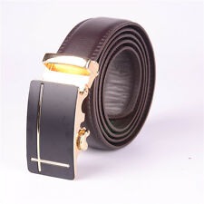 Fashion Men's Automatic Buckle Brown Belts Fashion Belt Silver and gold buckle