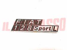 SCRITTA SIGLA COFANO POSTERIORE FIAT 128 SPORT L COUPE IN PLASTICA ORIGINALE