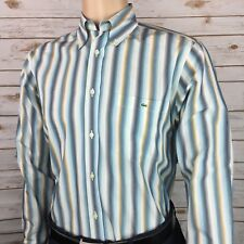 Lacoste Men's Multicolor Striped Dress Shirt Size 40 Medium